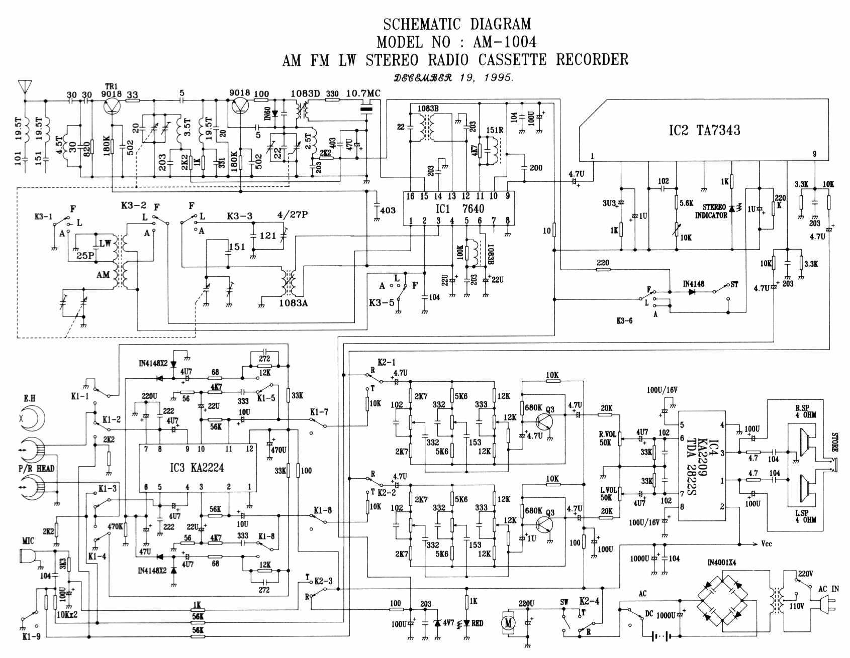 Ka2224 схема включения